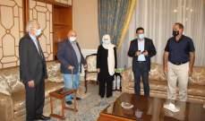 الحريري استقبلت نجار وحب الله: صيدا حاضرة لتقوم بواجبها الوطني تجاه العاصمة بيروت