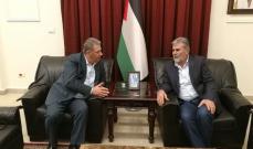 دبور التقى نائب الأمين العام للجهاد الاسلامي