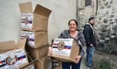 مركز المصالحة الروسي بسوريا: قواتنا سلمت 42 طنا من المواد للسطات المحلية