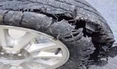 النشرة: انفجار اطار شاحنة قبالة جامع الزعتري في مدينة صيدا