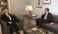 سليمان بحث في الأوضاع الدولية مع السفير الفرنسي