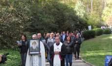 """""""عيلة مار شربل"""" بالولايات المتحدة احتفلت بالذكرى الثانية لتشييد أول مزار للقديس شربل"""