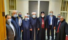 وفد من التيار الوطني برئاسة الخطيب جال على فاعليات طرابلس الروحية والامنية
