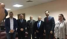 ممثل السفير الاسترالي زار مستشفى الشفاء في ابي سمراء بطرابلس