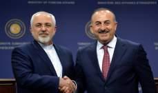 الخارجية الايرانية: جاويش أوغلو بحث هاتفيا مع ظريف الأحداث الأخيرة في سوريا