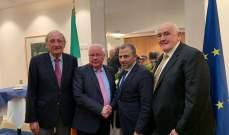 باسيل استهل زيارته الى ايرلندا بلقاء اعضاء لجنة الشؤون الخارجية