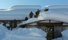 الثلوج تغطى شوارع ومنازل بمحافظة أكيتا اليابانية والجيش يتدخل للمساعدة