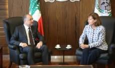 بو صعب بحث مع ريتشارد بالأوضاع العامة وبالهبات التي تقدمها أميركا للبنان