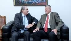 جريصاتي التقى كوبيتش وبحث معه التطورات الراهنة والاحداث الجارية