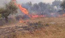 إخماد حريق اقفاص بلاستيك في العبدة وحريق أعشاب وأشجار في مجدليا
