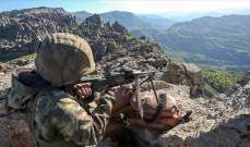 الدفاع التركية: مقتل جنديين خلال اشتباكات مع مسلحي