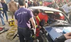 النشرة: جريحان بحادث سير على طريق دير زنون