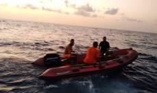 الدفاع المدني يعمل على انتشال جثة مقابل شاطئ الجية