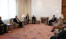 الأسد إلتقى رئيس هيئة الأركان العامة للقوات المسلحة الايرانية