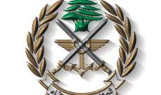 الجيش: إطلاق نار على دورية أثناء ملاحقة مهربين وتوقيف مطلوب في بعلبك