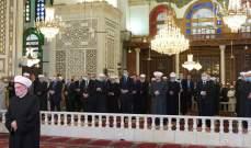الرئيس الأسد يؤدي صلاة عيد الفطر السعيد في رحاب الجامع الأموي الكبير