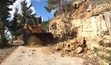 الدفاع المدني: جرف أتربة وصخور في دير سير وعلى طريقي رأس الحرف وبحوارة/ الغابون