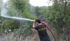 النشرة: اندلاع حريق في حقل قرب مستشفى الشيخ راغب حرب في تول