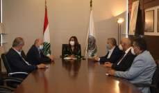 عكر استقبلت وفدا من العمالي العام برئاسة الأسمر وبحثٌ بالأزمة الراهنة