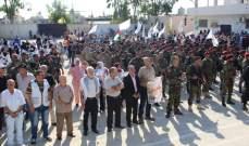 حركة فتح في مخيّم الرشيدية تنظم لقاء تضامنياً داعم للرئيس الفلسطيني