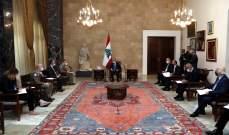 الرئيس عون عرض مع قائد اليونيفيل التطورات عى الحدود