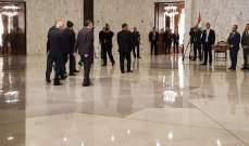 الرئيس عون يستقبل نرار زكا وافراد عائلته في حضور اللواء عباس ابراهيم