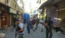 النشرة: بدء انتشار القوة المشتركة الفلسطينية في حي الطيرة بعين الحلوة