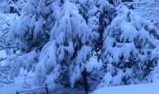 النشرة: تساقط الثلوج في مرياطة شمال لبنان على ارتفاع 300 متر