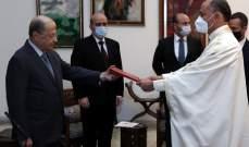 الرئيس عون تسلم اوراق اعتماد سفراء تونس وسيراليون والبرازيل وكوريا الشعبية