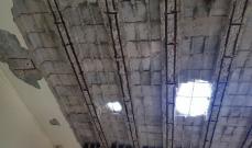 سقوط سقف منزل في حي كنيسة الروم في حلبا