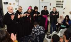 السفير البابوي زار جناح الاحداث في سجن رومية في إطار برنامج