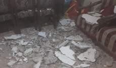 انهيار جزء من سقف منزل بعين الحلوة ونجاة العائلة