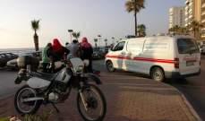 النشرة: جريحة نتيجة حادث صدم على الكورنيش البحري لمدينة صيدا