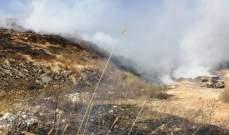 الدفاع المدني: إخماد حرائق أعشاب يابسة في الروضة وفيطرون والنبطية وميس الجبل