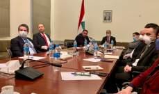 المشرفية عرض مع المحافظين خطّة الطوارئ الإجتماعية في السراي الحكومي
