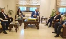 وفد من التيار الحر زار السفير السوري للتهنئة بإعادة إنتخاب الأسد