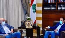 الحريري التقى جنبلاط في بيت الوسط وعرض معه المستجدات السياسية