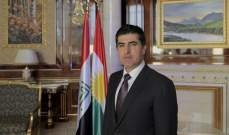 رئيس إقليم كردستان العراق: المسألة الكردية في سوريا يجب أن تحل ضمن الإطار السوري