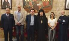 درويش التقى رئيس مجلس نواب اتحاد دول أميركا الوسطى بمطرانية سيدة النجاة