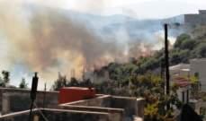 حريق في ضهر ليسينة في منطقة السهلات العكارية