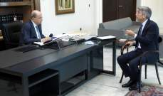 الرئيس عون عرض مع فياض واقع المحروقات وانعكاساته على وضع التيار الكهربائي