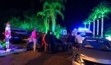 سقوط جريح بحادث تصادم على تقاطع الطريق العام في بلدة كوسبا