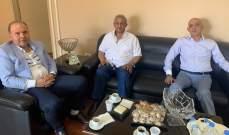 سعد التقى رئيس مركز الضمان الاجتماعي في صيدا وبحث معه اوضاع الضمان