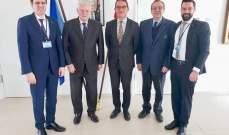شمعون التقى سفير ألمانيا وقدم له طرح حل جدي وعملي لقضية النازحين السوريين