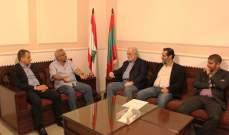 أبو زيد والخوري دعوا أسامة سعد وضو وحمود لحضور مؤتمر تنمية الجنوب