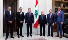 الرئيس عون اطلع من المدير التنفيذي لبرنامج الأغذية العالمي على المساعدات الغذائية التي سيقدمها البرنامج للمتضررين
