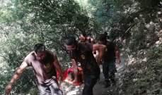 الدفاع المدني: إنقاذ مواطنة جراء سقوطها في وادي شوان بكسروان