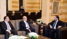 طربيه التقى الحريري داعيا اياه المشاركة في افتتاح المؤتمر الدولي - العربي