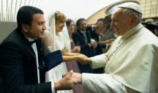 البابا فرنسيس بارك زواج الدكتور شربل سعاده والشاعرة ماريا تيمتشوك