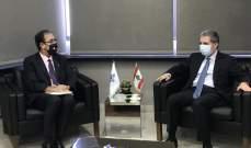 وزني عرض مع سفير فرنسا الأوضاع المالية والمفاوضات مع صندوق النقد